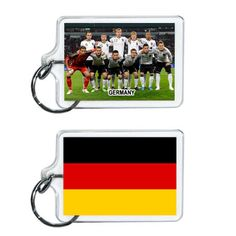 Germany Soccer Flag 2014 Team Player Acrylic Keychain 2 x 1 | www.balligifts.com