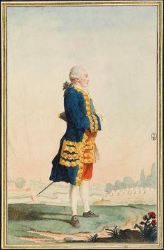 Le comte de Lusace, oncle du roi de Saxe, by Louis Carrogis Carmontelle (1717-1806) (Chantilly)