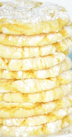 Lemon Drop Cookies Recipe ~ Quick and tasty... They are made with a cake mix and have only three ingredients (one being the cake mix of course)