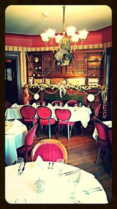 Holiday Cheer within the elegant Family Breakfast Room at Tippecanoe Place Restaurant in downtown South Bend, IN