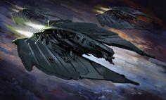 BURNING SUNS - Cyborg Fighter Squadron by Redan23