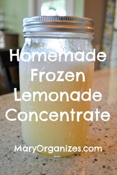 Homemade Frozen Lemonade Concentrate - yum