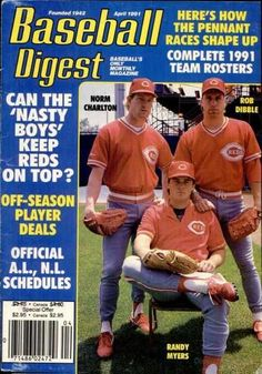 Sports Magazine Covers: Norm Charlton, Rob Dibble, Randy Myers