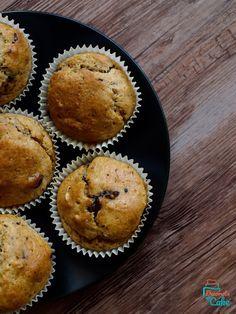Pełnoziarniste muffiny z czekoladą