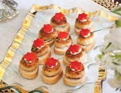 Crab Cake Crostini - Tea & Savories from TeaTime Savories