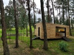 exterior | House Prototype is a private residence designed jointly by Luis Roldan Velasco & Ángel Hevia Antuña. The 538-square-foot home is located in Sangolqui, Ecuador.