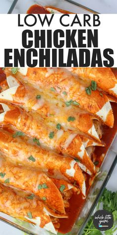 Low carb keto chicken enchiladas with 8 net carbs each using low carb tortillas. Eat keto Mexican for dinner with this easy keto enchilada recipe with chicken. Healthy Low Carb Dinners, Low Carb Dinner Recipes, Low Carb Keto, Easy Meals, Dinner Healthy, Meals Low In Carbs, Low Cab Meals, Best Low Carb Meals, Eating Healthy