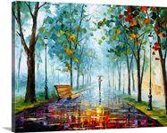 Landscape - Rainy Afternoon — Rain Modern Wall Art Oil Painting On Canvas By Leonid Afremov. Artwork, Size: X cm x 60 cm) Oil Painting On Canvas, Canvas Wall Art, Canvas Prints, Framed Prints, Art Prints, Big Canvas, Painting Art, Knife Painting, Watercolor Painting