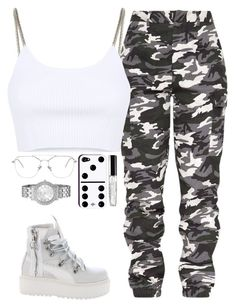A fashion look from February 2018 featuring crop tops, cargo pants and lace-up bootie. Browse and shop related looks. Cute Lazy Outfits, Swag Outfits For Girls, Cute Swag Outfits, Teenage Girl Outfits, Teen Fashion Outfits, Mode Outfits, Retro Outfits, Girly Outfits, Fashion Clothes