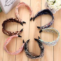 Women Lady Girl Retro Wide Pleated Floral Headband Alice Hair Band Wedding Party