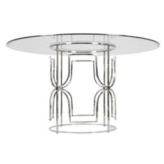 Worlds Away Jennifer Dining Table - Nickel 54"