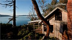 A cabin on an island in the San Juan archipelago north of Puget Sound, in Washington state. It's an hour by boat to the nearest town. Photo: Stuart Isett for The New York Times