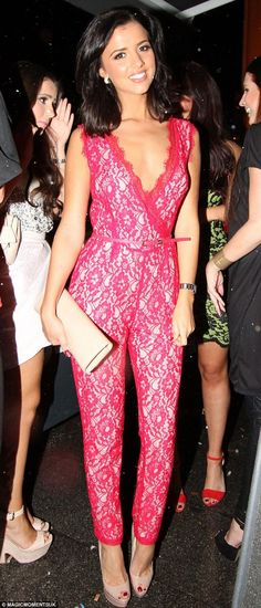 c38a93ebc5640b The Fabulous Lucy from Towie is wearing our stunning pink jumpsuit!  Available at LOVE St.Stephens Green