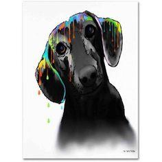 Marlene Watson Dachshund Canvas Art, Size: 24 x 32, Multicolor