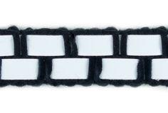 """Fashion Trim, 5/8"""" Black and White Plastic   Britex Fabrics"""