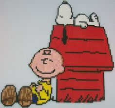 Charlie Brown and Snoopy perler bead decoration