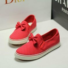 [grxjy5190023]Fresh Cute Comfortable Bowknot Polka-dots Loafers