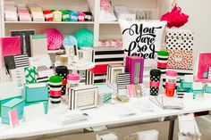 I need to make a trip to Arizona & get all this cute stuff! -- The TomKat Studio Retail Shore Display   Stationery + Gifts