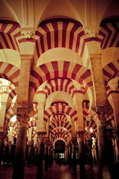 Mezquita de Cordoba, Andalucia, Spain.  I have been here. It is Huge and, despite it's architectural glory, quite creepy!