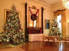The Christmas trees inside The East Room at @Matty Chuah White House. #whsocial