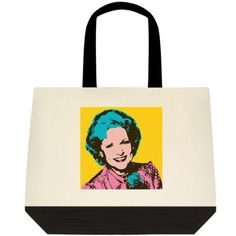 Rose Nylund The Golden Girls Betty White Tote Bag Purse Grocery Shop #Unbranded…