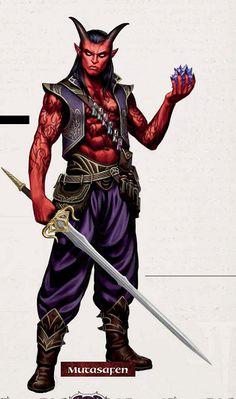m Tiefling Rogue Arcane Trickster sword crystals