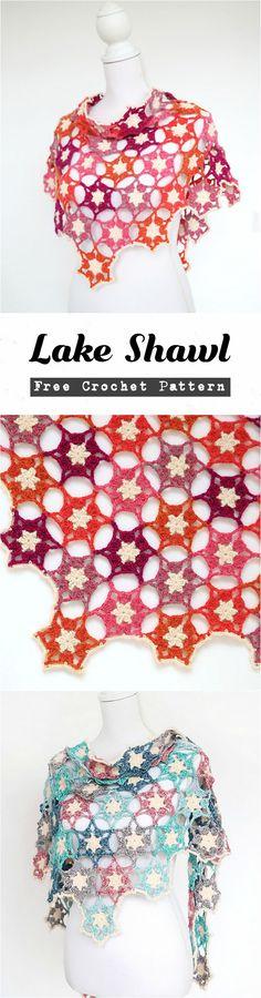 Crochet Lake Shawl