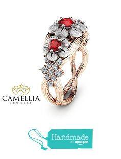 Camellia Flower Diamond Bypass Promise Ring H1cqHEwob
