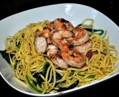 Makkelijk Koken: Spaghetti met gebakken gamba's