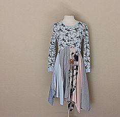 Women's Boho Dress   Funky Hippie Clothing   Upcycled Women's Fashion