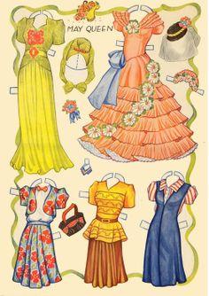 (⑅ ॣ•͈ᴗ•͈ ॣ)♡                                                             ✄FPD cloths 5 Festival Paper Dolls