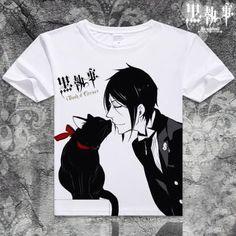 Black Butler Short Sleeve Anime T-Shirt V20