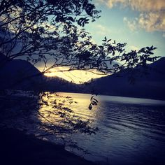 Sunset on lake Saiko - Couchflyer.com