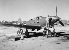 Bell P-39 at 4th Air Depot in Australia  Wax is applied to an overhauled P-39 Airacobra at 4th Air Depot repair shop at Garbutt Field, Townsville, Australia in June 1943. (U.S. Air Force Photo)  http://www.lonesentry.com/blog/bell-p-39-airacobra.html