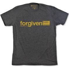 $22  19 Upstream Christian t-shirt  Forgiven Christian tee shirt  Christian tshirts based on bible study.  www.19upstream.com