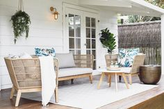 """1,132 Likes, 18 Comments - THREE BIRDS RENOVATIONS (@threebirdsrenovations) on Instagram: """"When we bought the Beach Shack she had this tiny little porch running along the front of the house…"""""""
