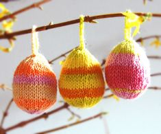 Knitted Easter Egg Ornaments
