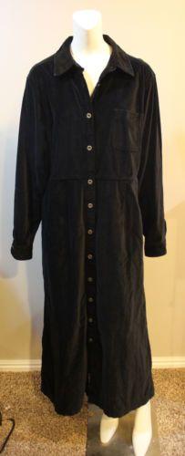 $59.95 Eddie Bauer Dress Black Velvet Velour Maxi Christmas Holiday Party 14 16 XL | eBay