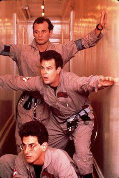 "Harold Ramis, Dan Aykroyd, & Bill Murray in ""Ghostbusters"" Ghostbusters Reboot, Original Ghostbusters, Ghostbusters Movie, Larry Wilcox, Kelly Eden, 80s Movies, Good Movies, Iconic Movies, Love Movie"