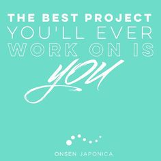 Working on yourself is the best thing you can do. Make a small change today with…