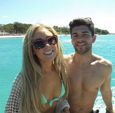 Nikola Hughes and Alex Mytton filming an episode of Made In Chelsea in Barbados