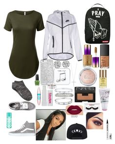 """Pray"" by harmony-jd ❤ liked on Polyvore featuring Vans, NIKE, Sprayground, Witchery, Happy Plugs, Roberto Coin, Cartier, tarte, NARS Cosmetics and NYX"