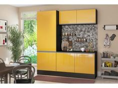 Cozinha Compacta Multimóveis Línea - 5225.130.695.130 6 Portas