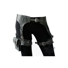 Skin Graft Garter Belt ($240) ❤ liked on Polyvore featuring belts, weapons, accessories, pants and steampunk