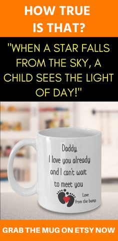 0eee4c907aa Daddy From The Bump Coffee Mug, Baby Expecting Dad, Daddy To Be Gift Idea