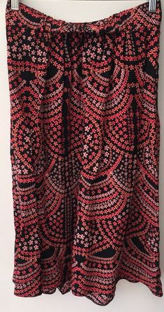 Size 12 Bnwt Editions Crepe Elasticated Boho Skirt Stunning!