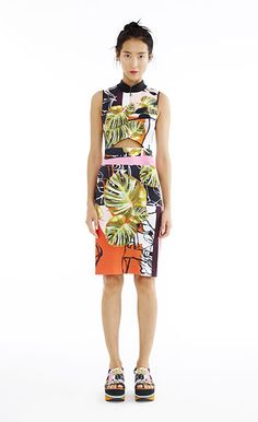 Falling Leaves Front Cutout Dress - Women's Spring 2015 Collection by Clover Canyon
