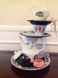 Tea time centerpiece...perfect for serving sweets or tea sandwiches.