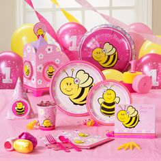 Sweet-As-Can-Bee 1st Birthday Party Supplies