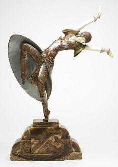 Прекрасные антикварные статуэтки эпохи арт-деко.. Обсуждение на LiveInternet - Российский Сервис Онлайн-Дневников